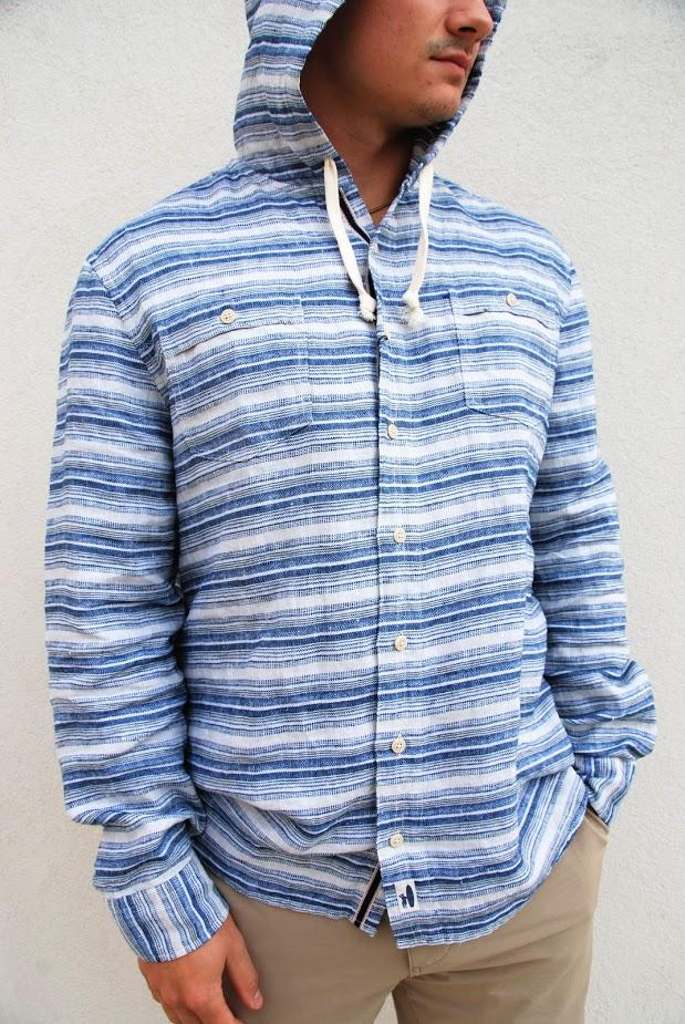 X-Large Johnnie-O Franky Hoodie Woven Shirt