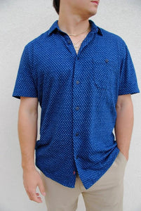Large Faherty SS Knit Coast Shirt