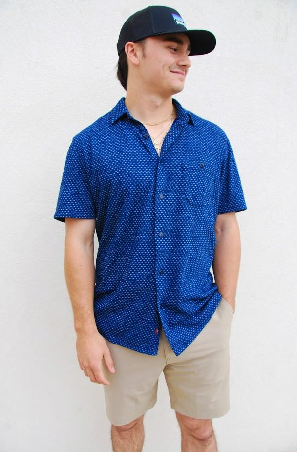 X-Large Faherty SS Knit Coast Shirt