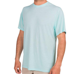 Free Fly Men's Bamboo Drifter Tee Blue Chill