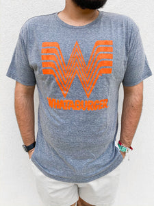 Whataburger Tee Orange & Heather Grey
