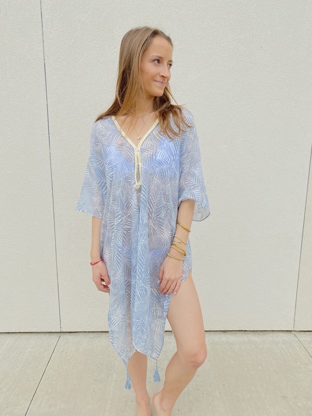 ONE Pool to Party Whisper Forest Kaftan