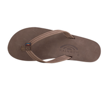 "Load image into Gallery viewer, Rainbow Women's Single Layer Arch Support Premier Leather with a 1/2"" Narrow Strap Dark Brown"