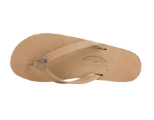 "Load image into Gallery viewer, Rainbow Women's Double Layer Arch Support Premier Leather with a 1/2"" Narrow Strap Sierra Brown"