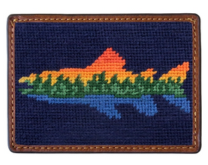 Smathers & Branson Needlepoint Card Wallet