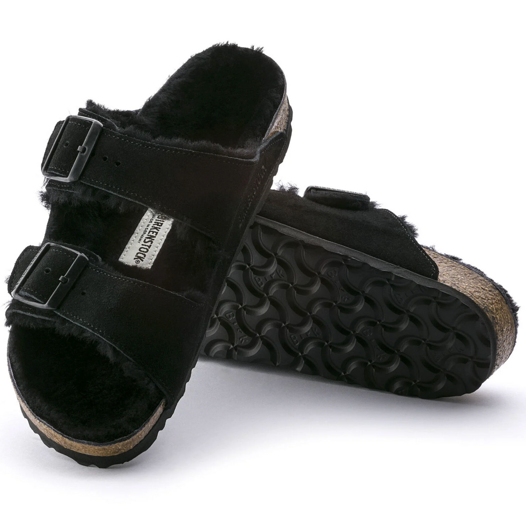 Birkenstock Arizona Fur Black