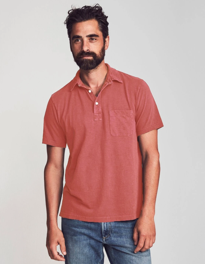 Faherty Sunwashed Polo