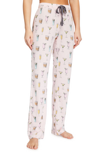 PJ Slavage Playful Drinks Print Pants