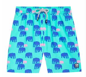 Elephant Swim Trunk - Spearmint & Blue