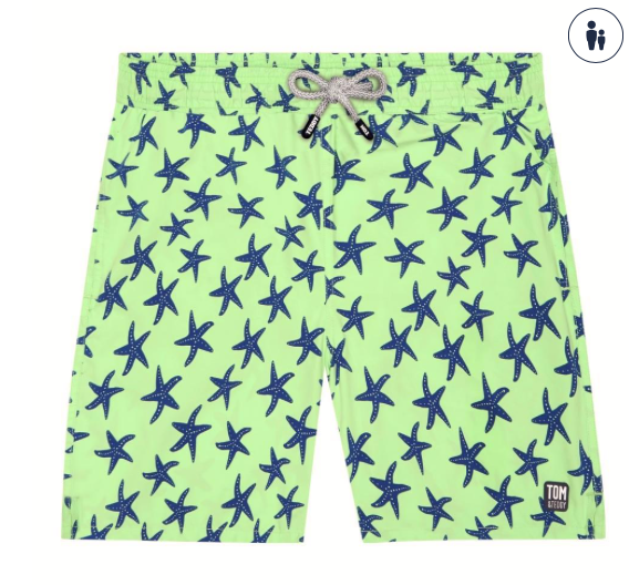 Starfish Swim Trunk - Fresh Green & Blue