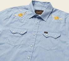 Load image into Gallery viewer, Crosscut Deluxe HIBISCUS : ZENITH BLUE OXFORD