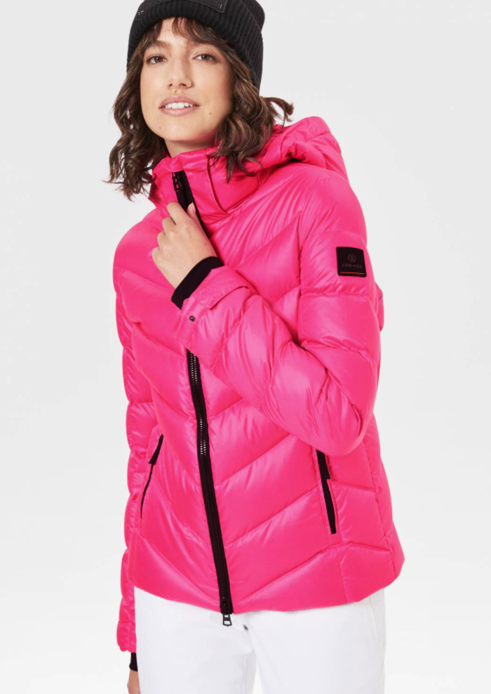 SASSY DOWN SKI JACKET in Pink