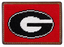 Load image into Gallery viewer, Smathers & Branson Collegiate Needlepoint Card Wallet