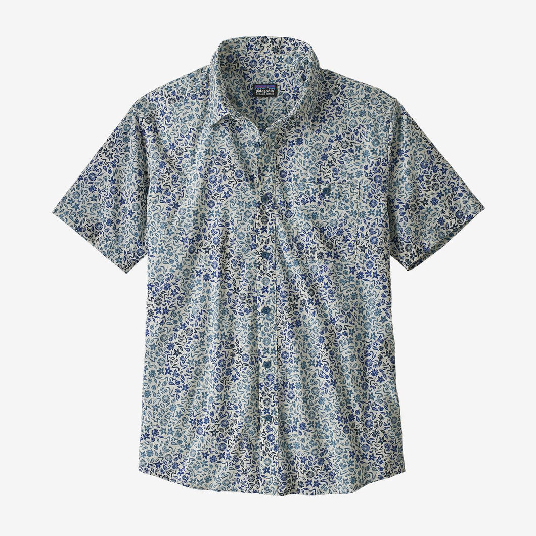 Men's Go To Shirt- Pigeon Blue