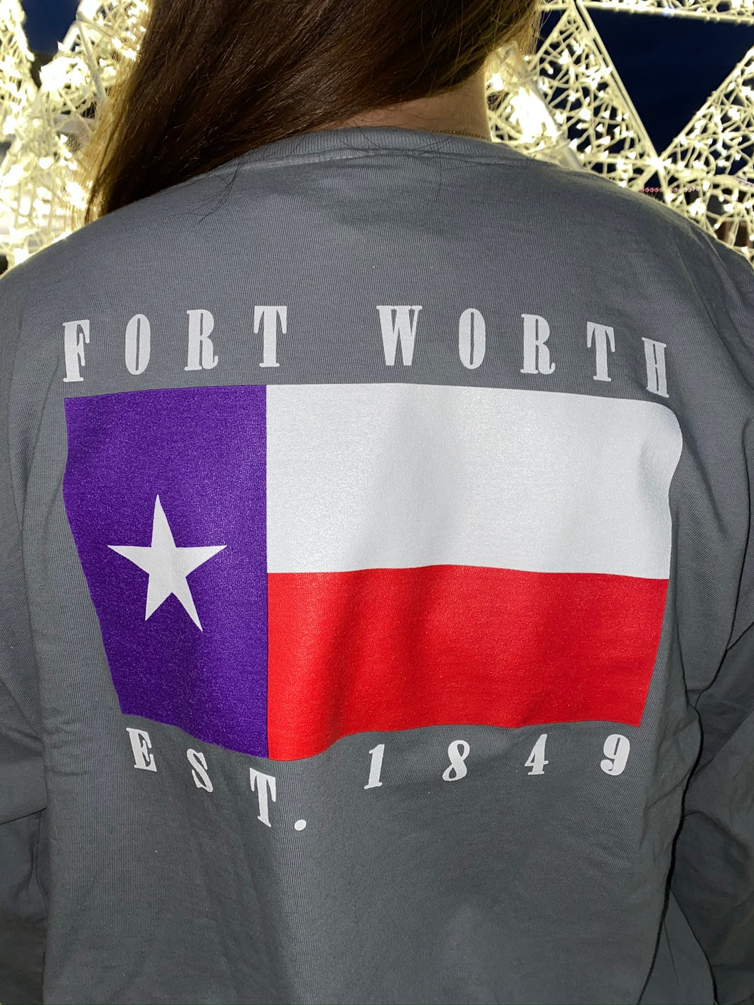 The Fort Clothing Fort Worth Flag Est.1848 Grey/Purple