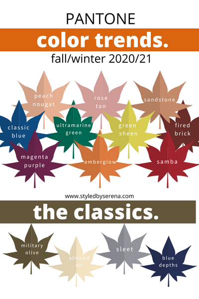 Pantone Color Trends F/W 20/21