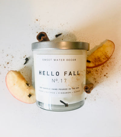 Natural Soy Candle | Hello Fall