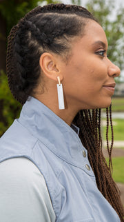 Bar Shell Earrings | Ivory