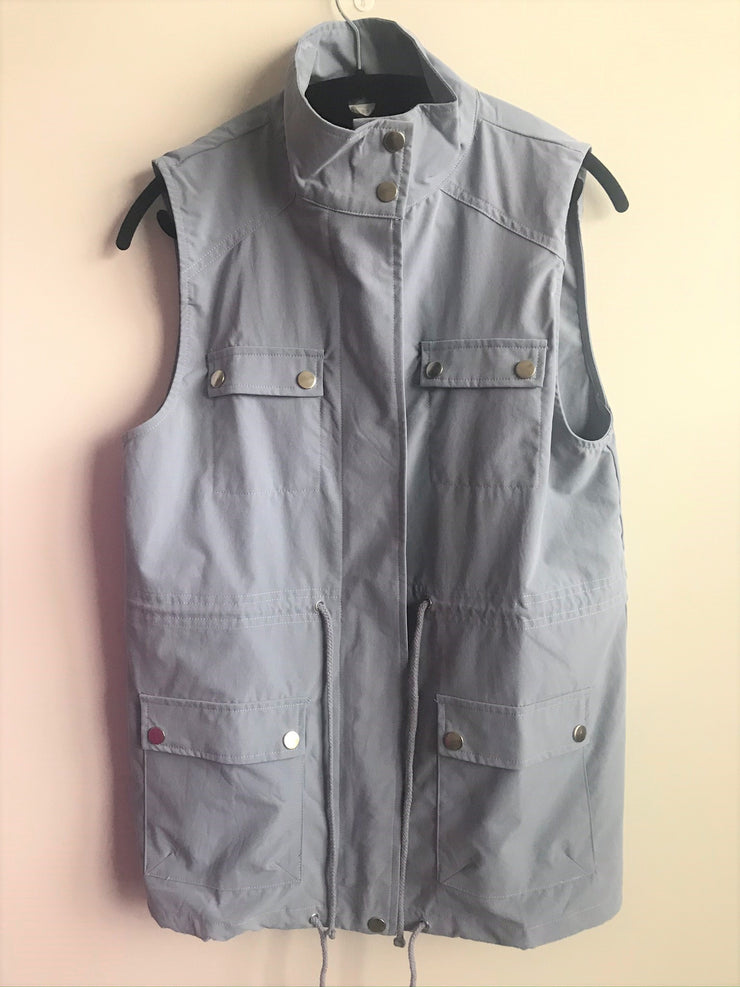 Seasonless Utilitarian Vest | Dusty Blue