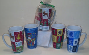 4 oz 'Holiday Trumpet Coffee Mug' Yummie Crummie Combo