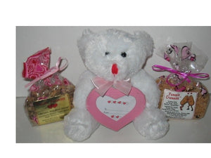 4 oz 'Valentine White Picture Frame Bear' Yummie Crummie Combo