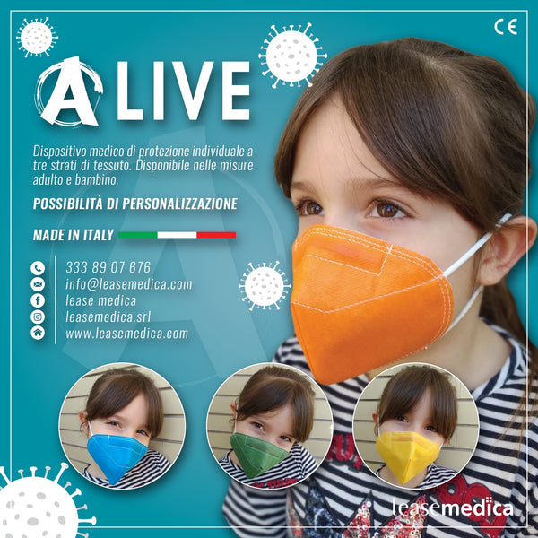 ALIVE mascherine colorate 3pz (per Bambini)