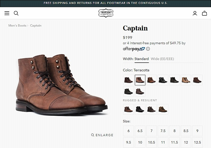 best-practices-shopify-product-pages-thursday-boots