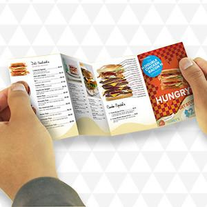Mini Menus Printing | Menu to Go Printing | Pocket Menus Mini Menus / 500 Mini Menus / Size 4x10, Mini Menus - Novo Productions, Novo Productions