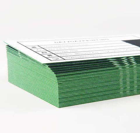Triple-Layered Business Cards Green