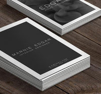 Triple-Layered Business Cards Black