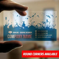 Plastic Business Cards | Full Color, Clear, Frosted, Gold and Silver 100 Plastic Business Cards / White Plastic / Print 1 Side, Business Cards - Novo Productions, Novo Productions