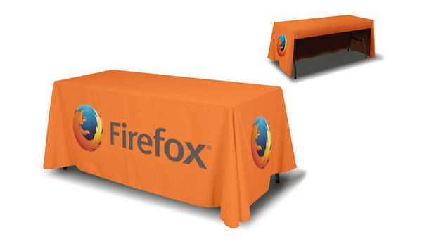 Table Covers Printing | Trade Show Table Covers | 3 or 4 Sides Printing Table Cover / 6ft 3 sided (open back), table cover - Novo Productions, Novo Productions - 2