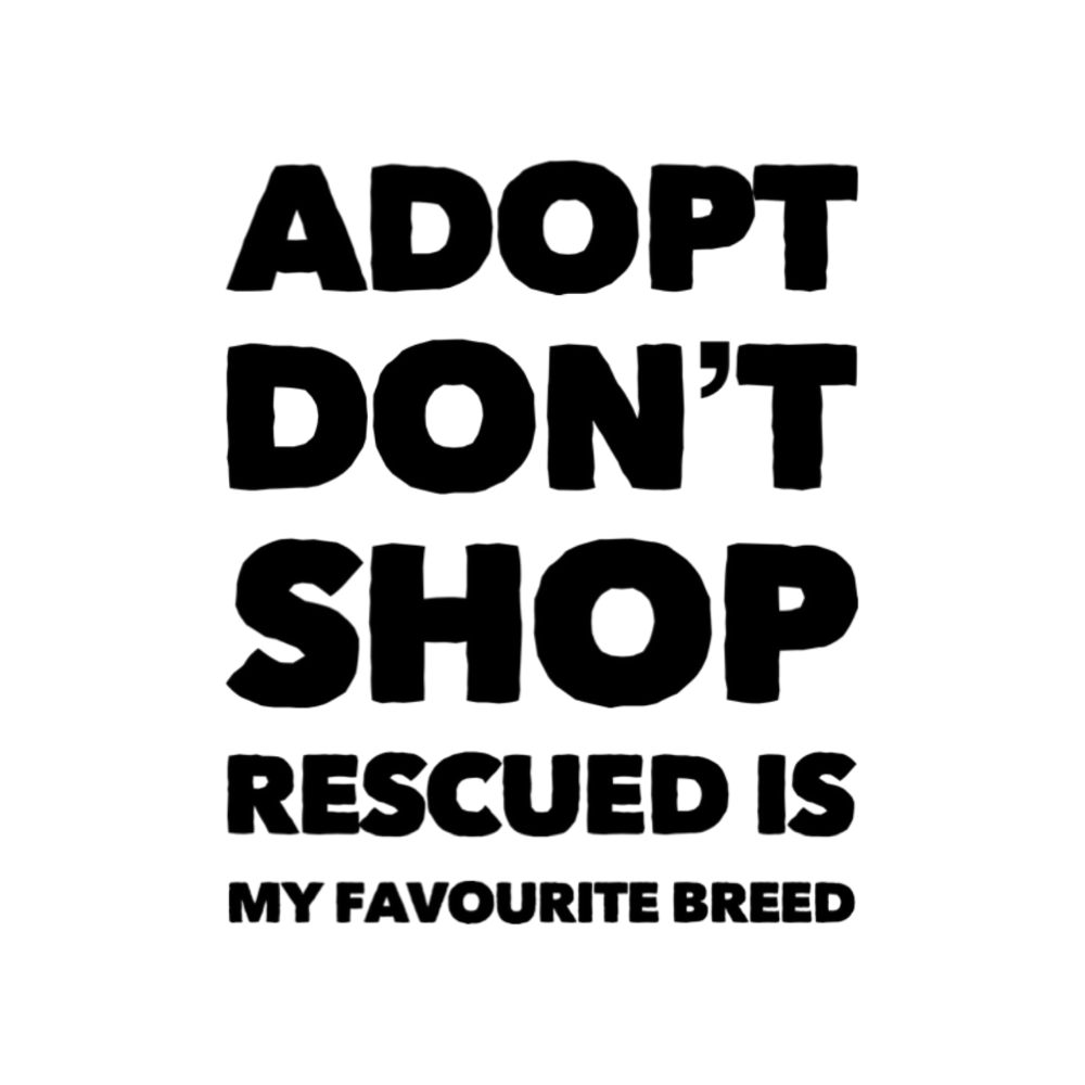 Adopt, Don't Shop. Rescued Is My Favourite Breed - Collaboration With Exclusively Mongrels