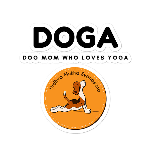 DOGA Dog Mom Who Loves Yoga - Bubble-free stickers