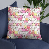 Crazy Dogs Cherry Pink Premium Pillow