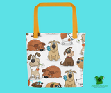 Proud Dog Moms' White Tote Bags For Dog Lovers