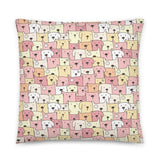 Crazy Dogs Baby Pink Premium Pillow