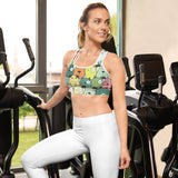 Funny Dogs Sports Bras - Green