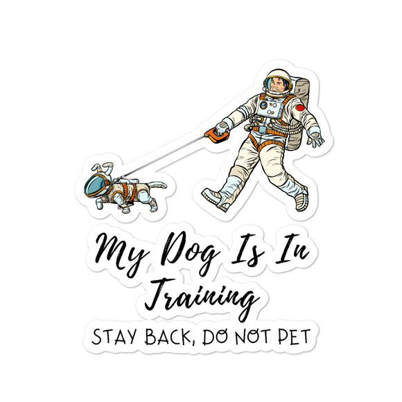 Dog Training Stickers on Bubble-Free Stickers