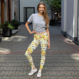Yellow Funny Dogs on Leggings For Women - Dog Mom Apparel
