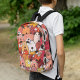 Funny Dogs Backpack - Red