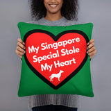 My Singapore Special* Stole My Hearts Premium Square Pillow - Dog Lover Store