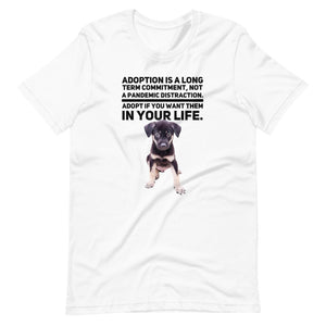 Adoption Is A Long Term Commitment, Short-Sleeve Unisex T-Shirt, White