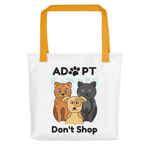 Adopt, Don't Shop Tote Bags - White
