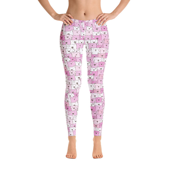 Funny Dogs Leggings, Pink - Dog Mom Apparel