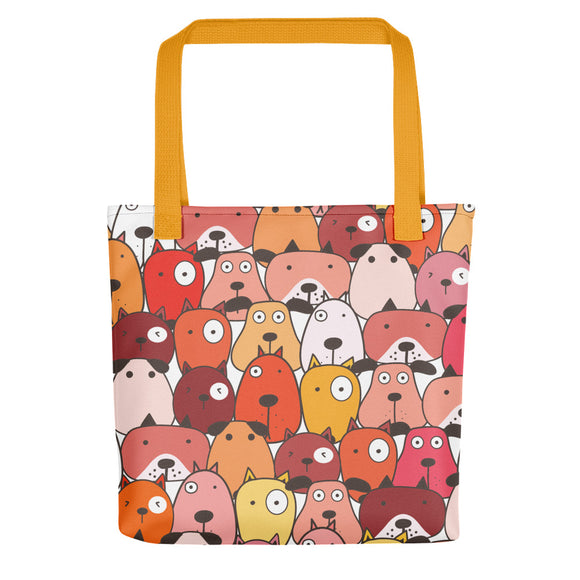 Funny Dog Tote Bags - Red