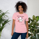 Born To Be Kawaii Poodle, Short-Sleeve Unisex T-Shirt, PInk