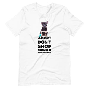 Adopt, Don't Shop, Short-Sleeve Unisex T-Shirt, White