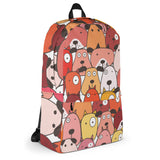 Bags for dog lovers, BackPack, Red