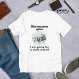 Pet Dog Astronaut Design, Short-Sleeve Unisex T-Shirt